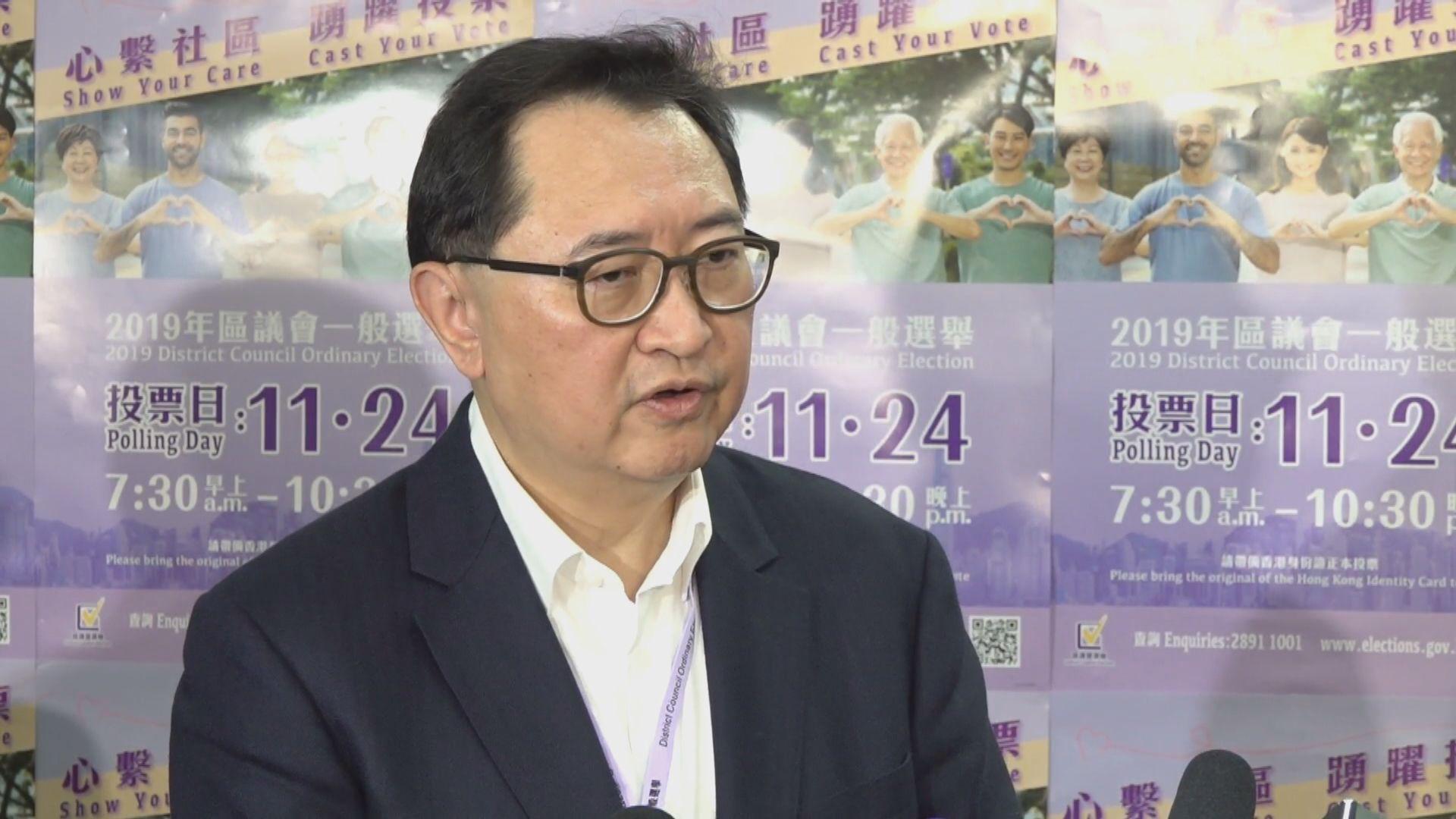 馮驊:投訴個案比例少相信不會影響投票