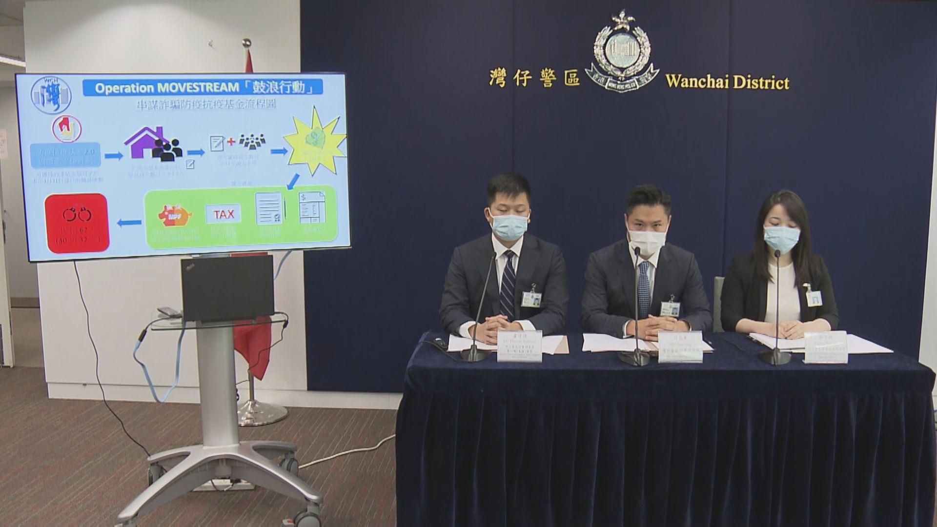警方拘62人涉7間旅行代理商疑騙取防疫抗疫基金