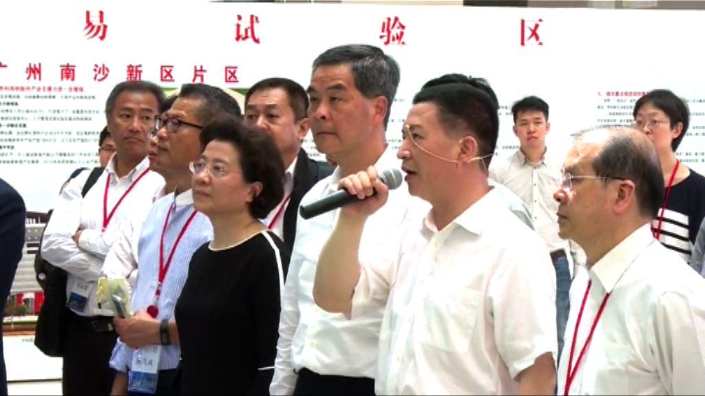 梁振英:特區政府非常重視大灣區規劃