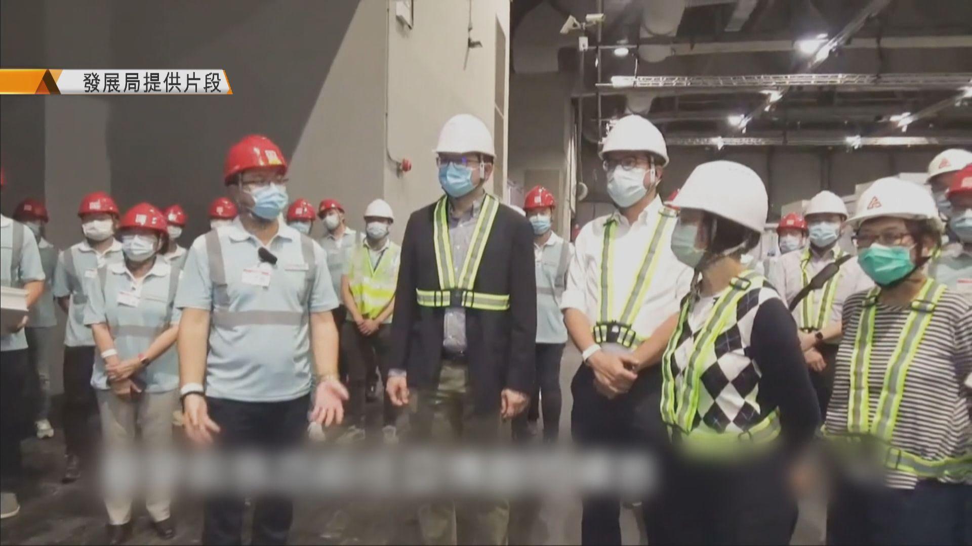 黃偉綸:亞博改建及臨時醫院興建進展順利