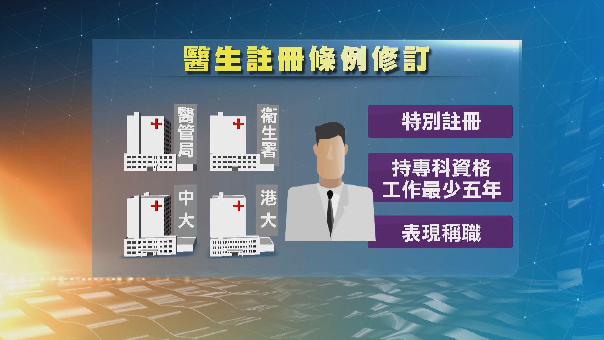 陳肇始:引入海外醫生不影響醫科生就業及專科培訓