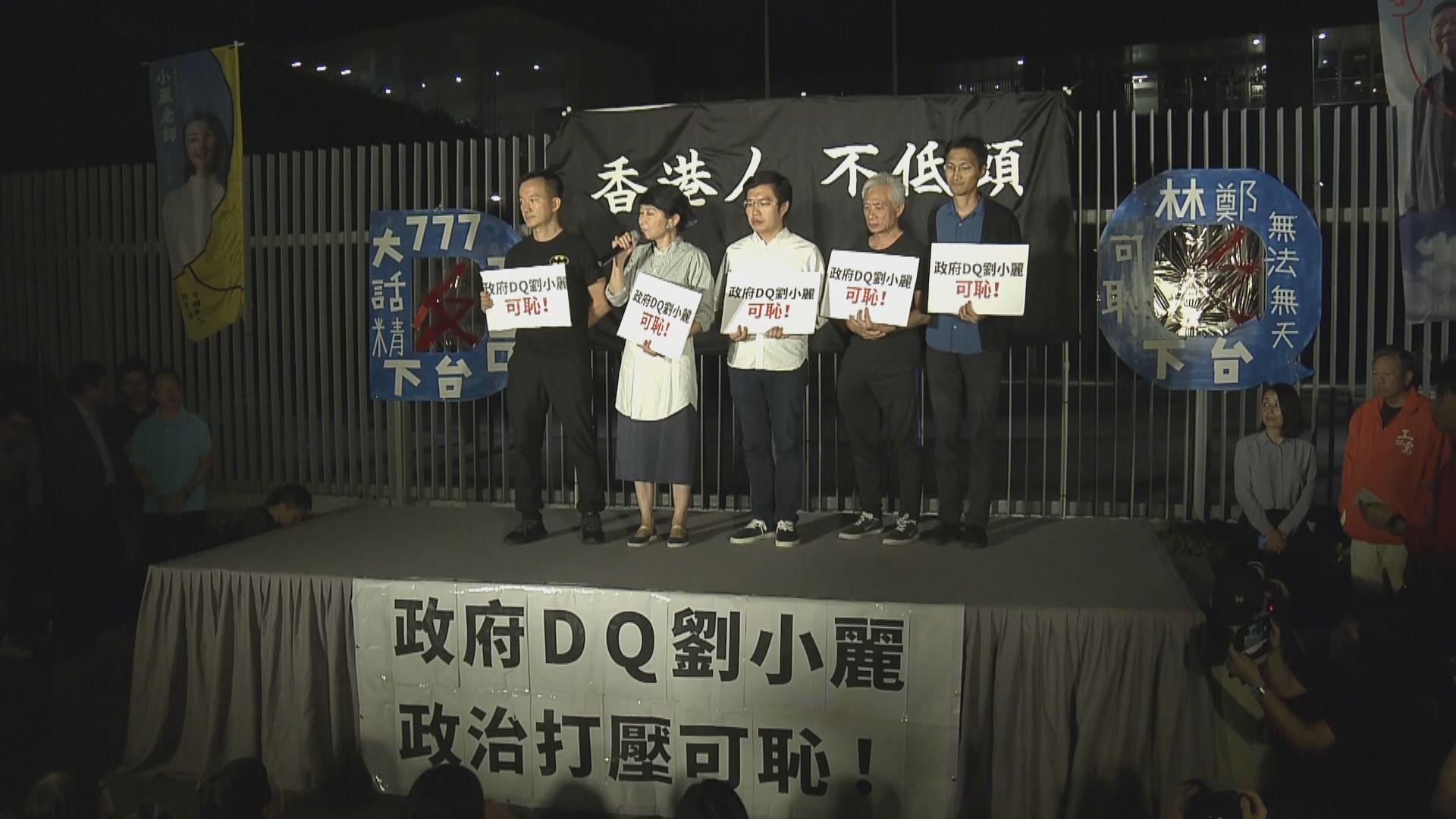 團體抗議劉小麗參選提名被裁定無效