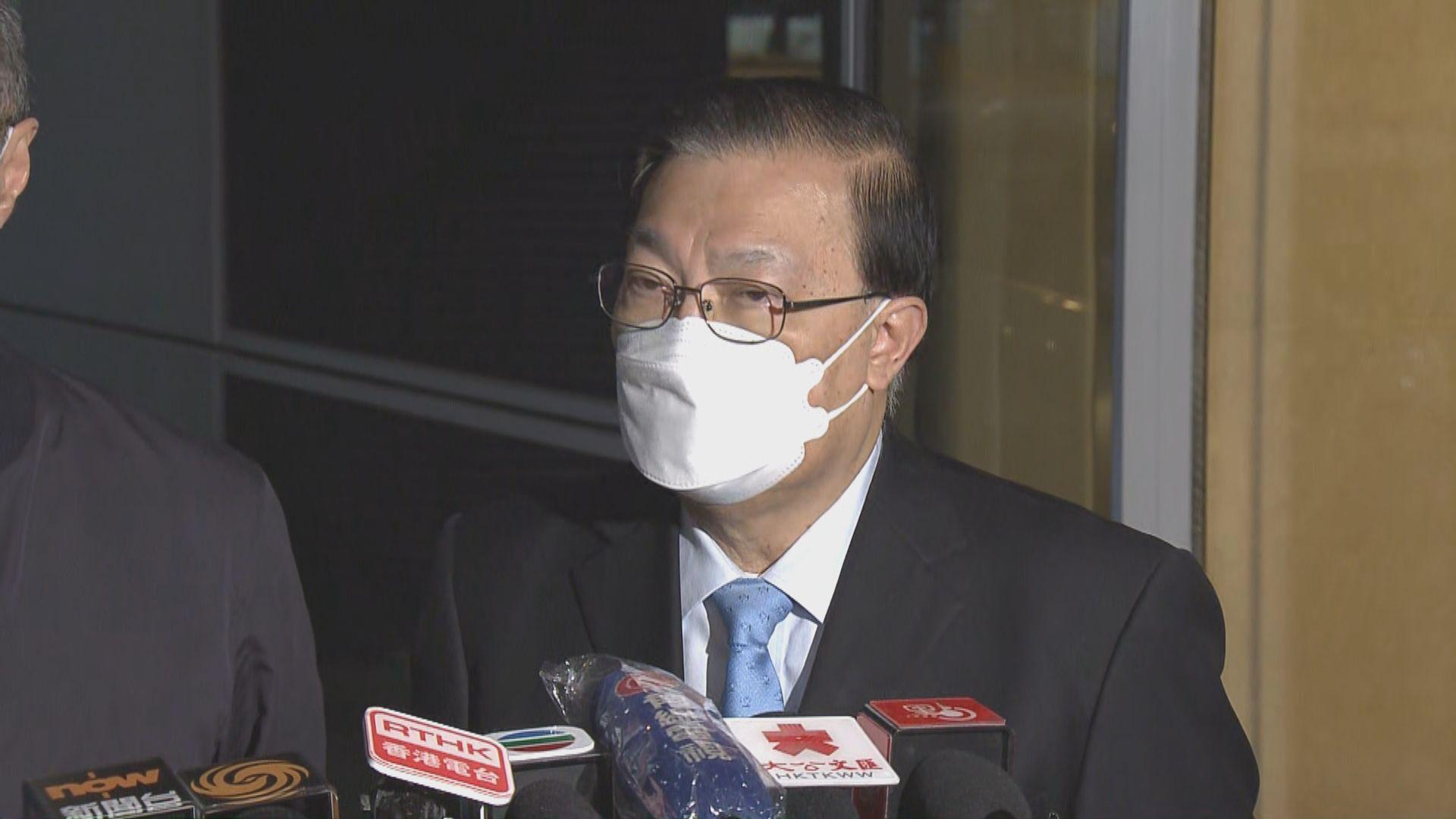 譚耀宗指被DQ議員再參選會遇「很大問題」