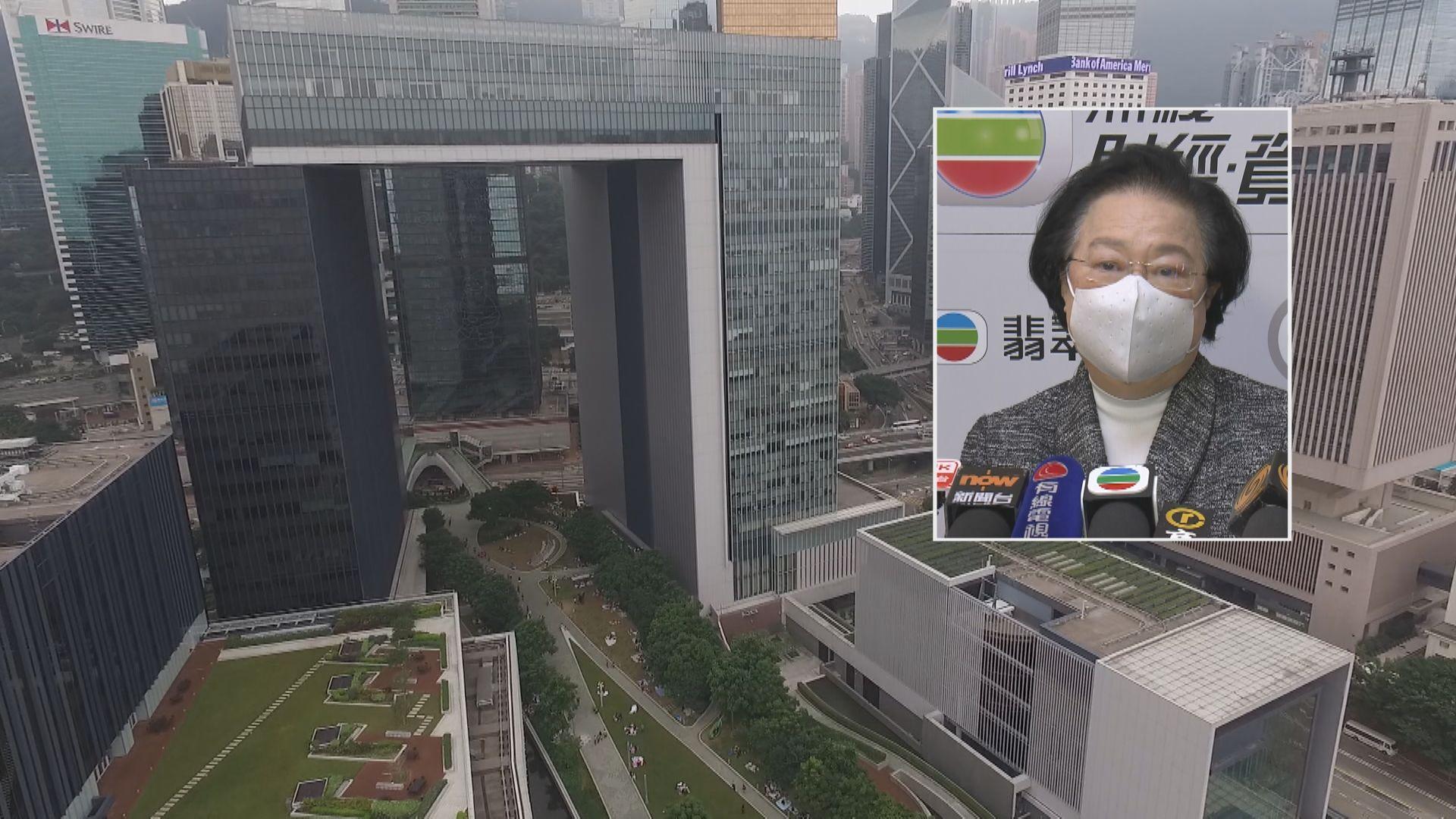 譚惠珠︰外國制裁官員不符程序公義