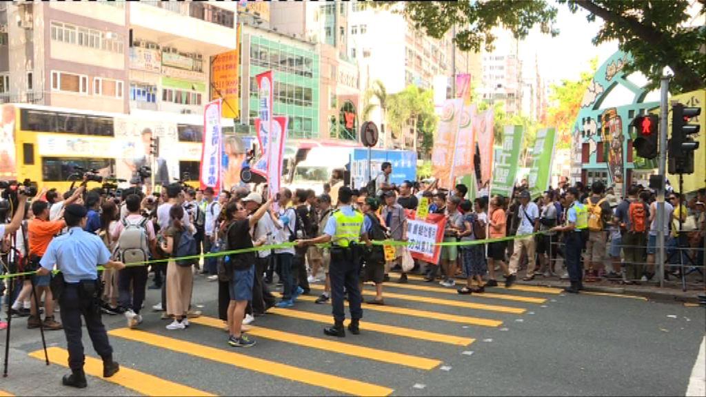 民陣:1200人參與遊行