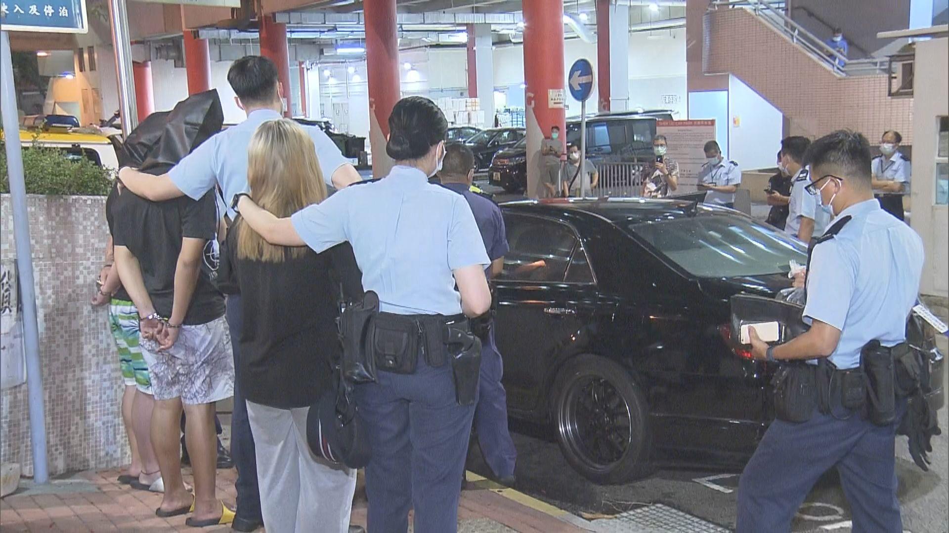 警方葵涌私家車檢毒品拘三男女