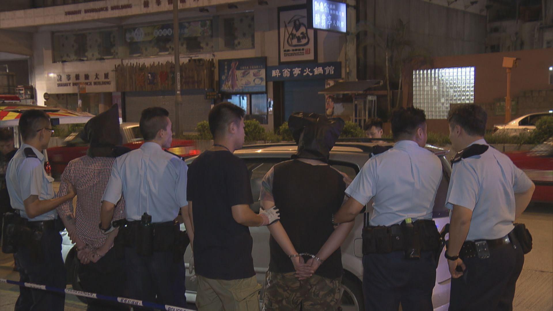 警方旺角截私家車檢毒品拘兩漢