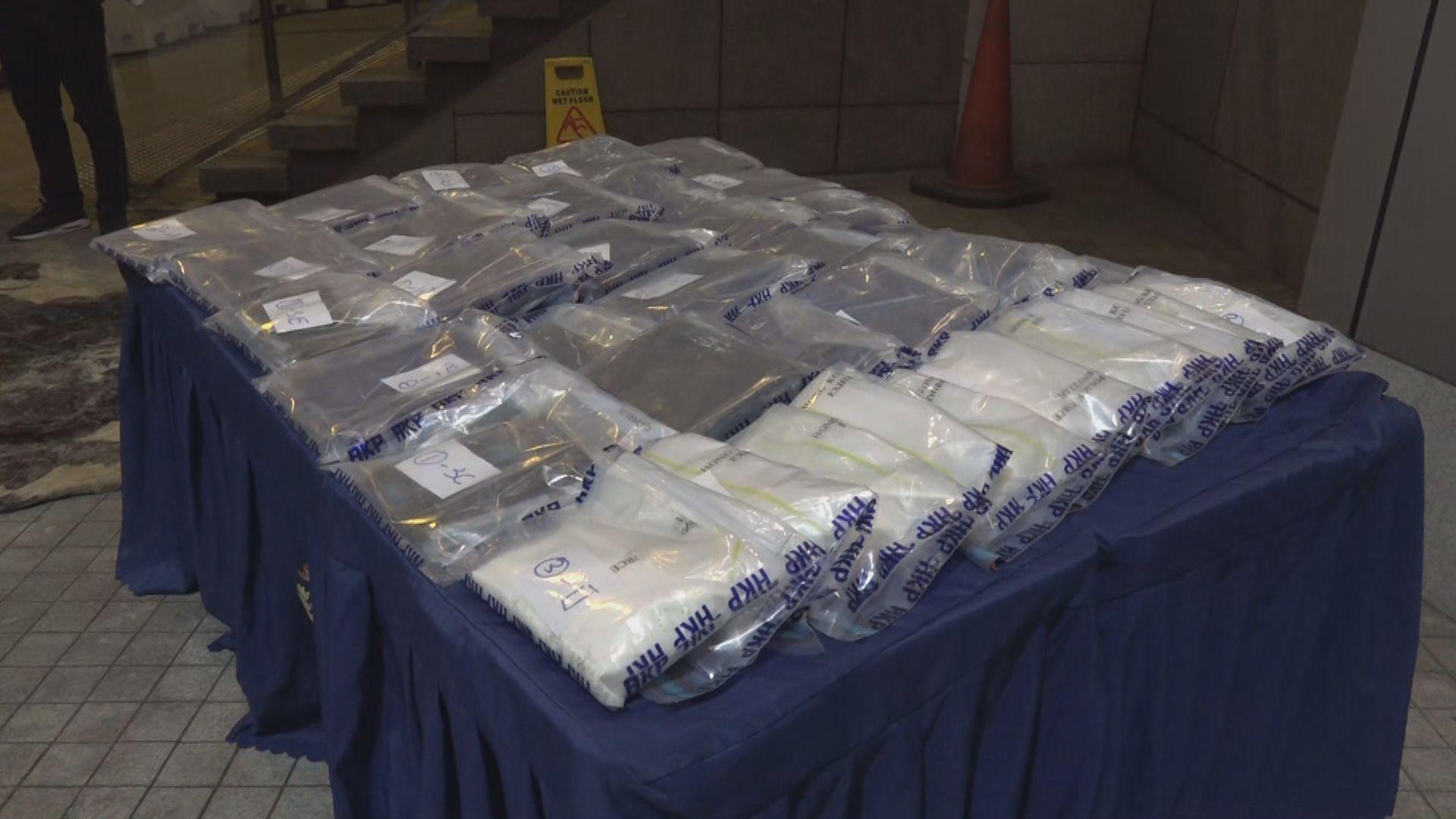 警方沙頭角檢獲35公斤可卡因 拘捕六人