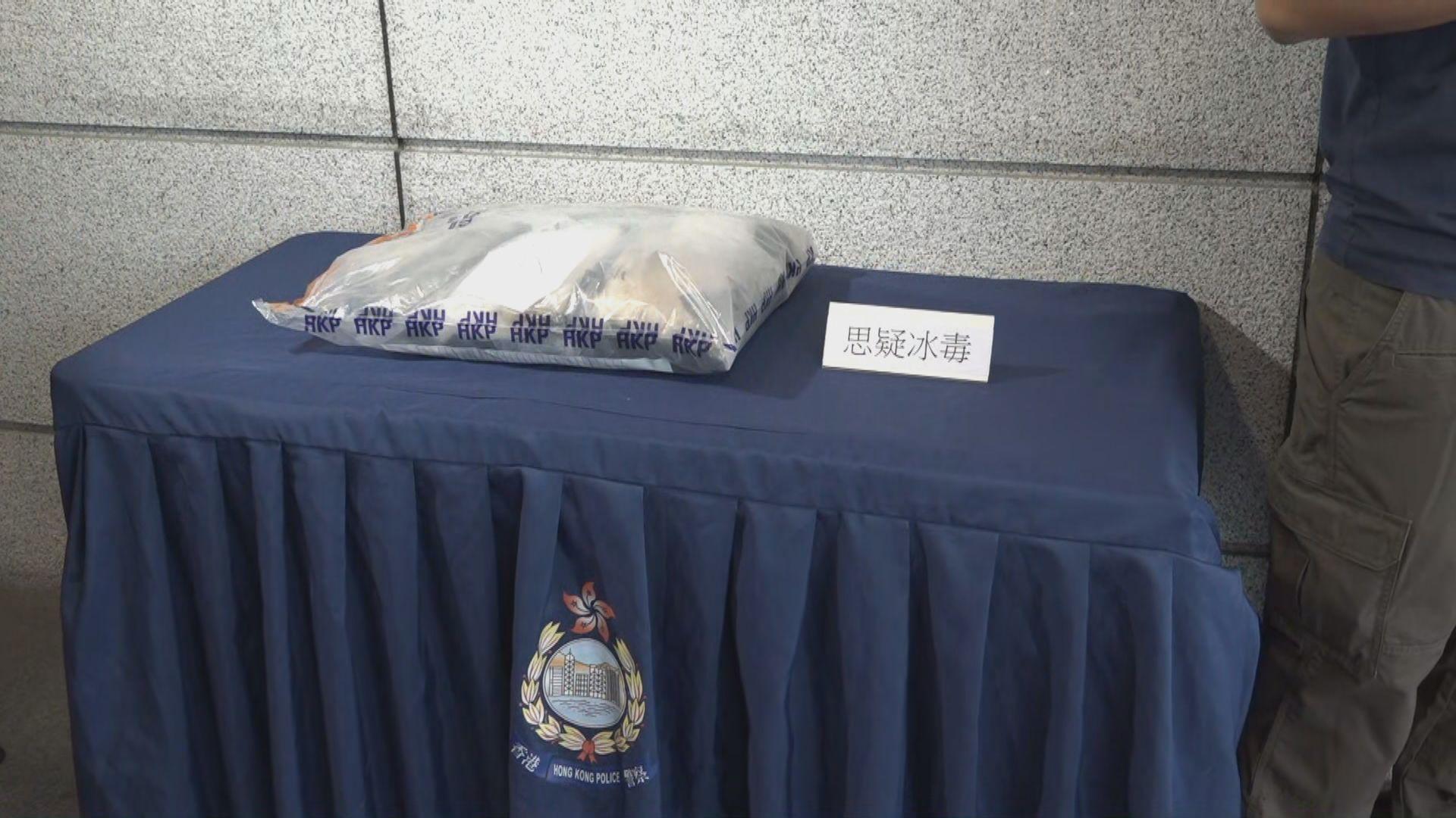 警方落馬洲檢約值300萬元懷疑冰毒拘一人