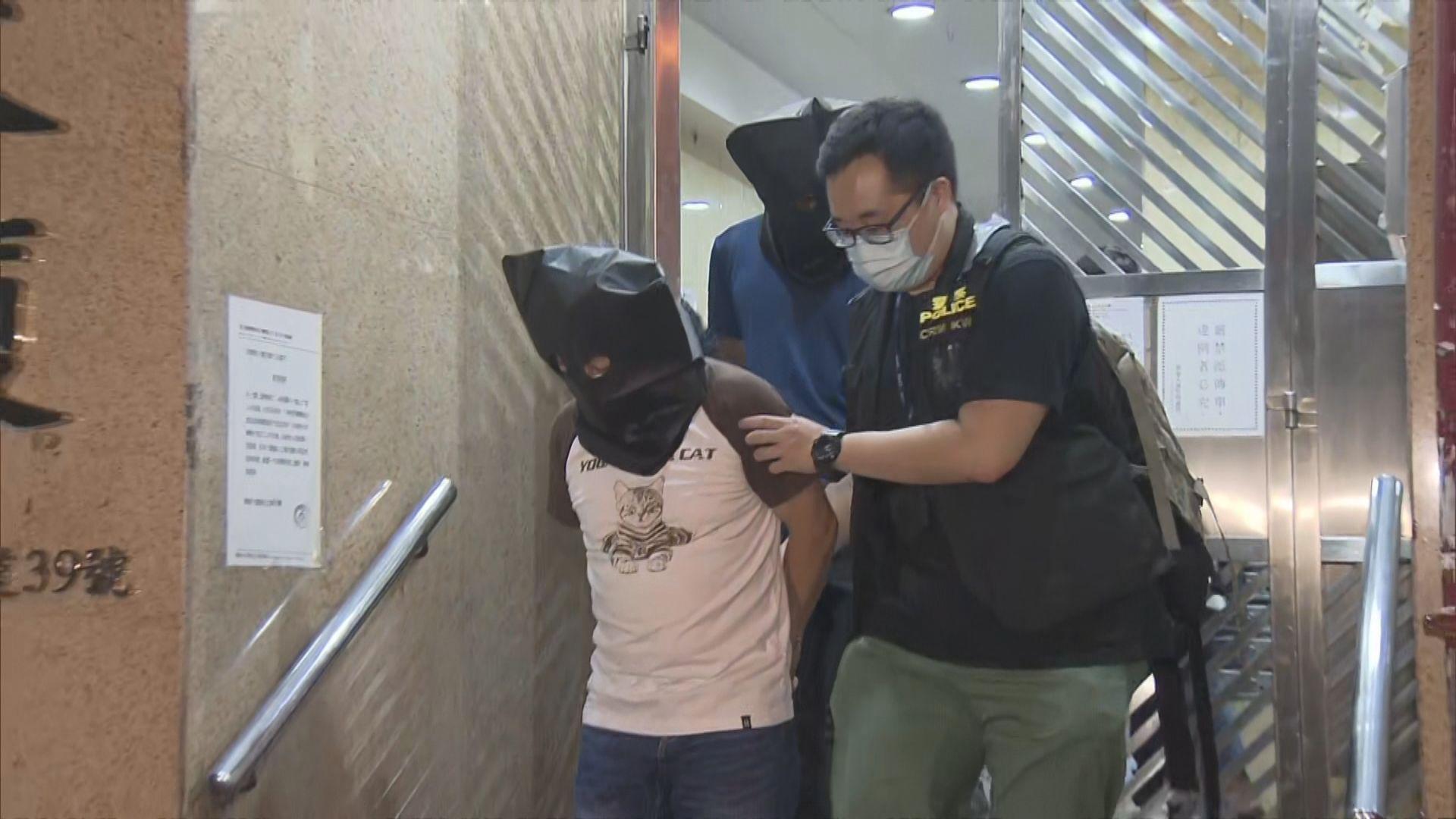 警荃灣破製毒工場 拘兩男子