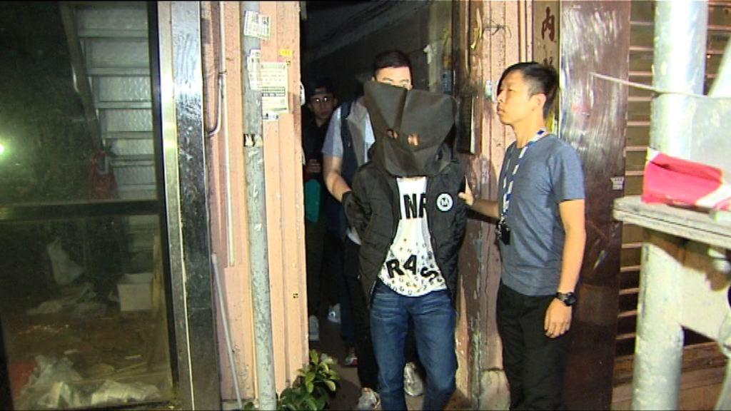 警破毒窟拘三人並檢獲冰毒