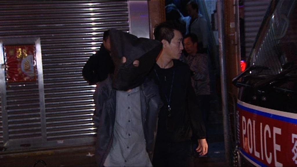 警方在旺角破毒窟拘32人