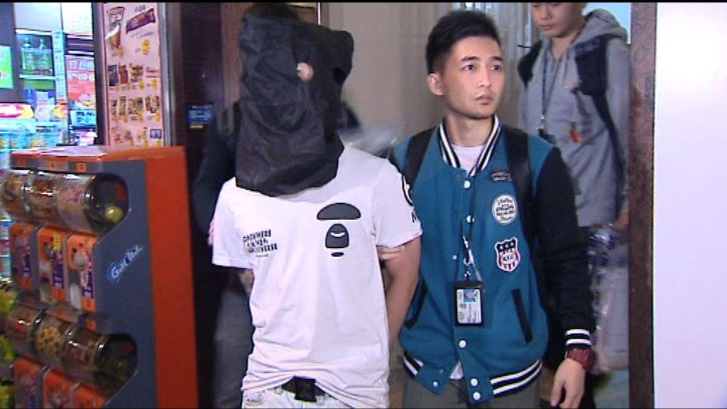 警方旺角拘一青年檢獲100萬K仔