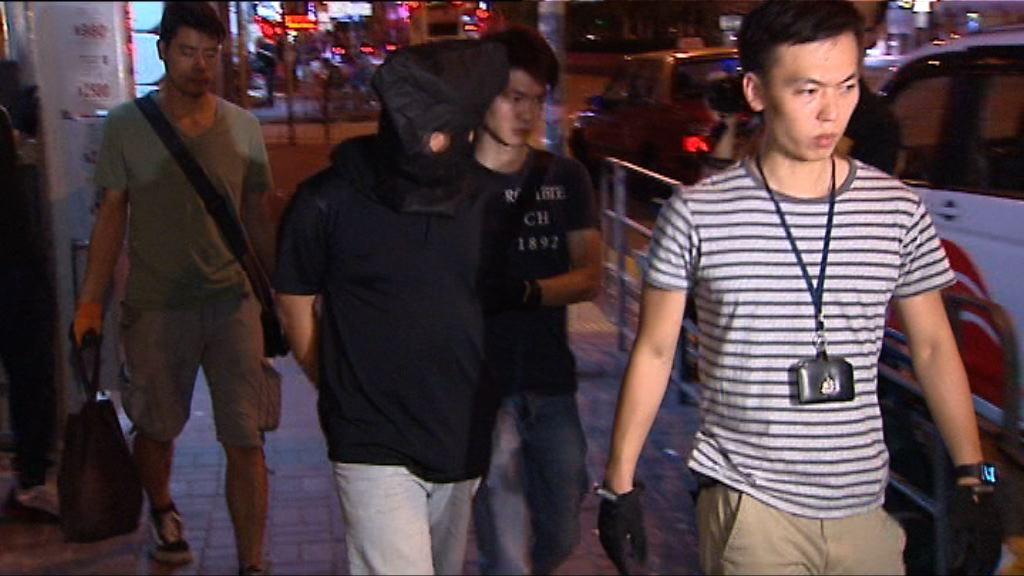 一名男子在旺角涉販毒被捕