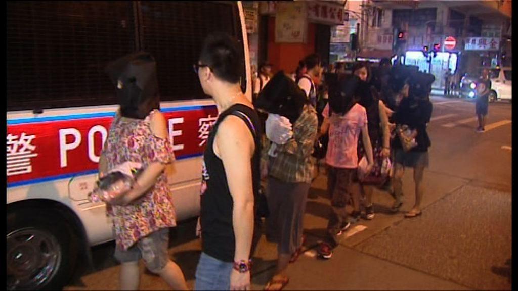 警方油麻地破毒品飯堂拘42人