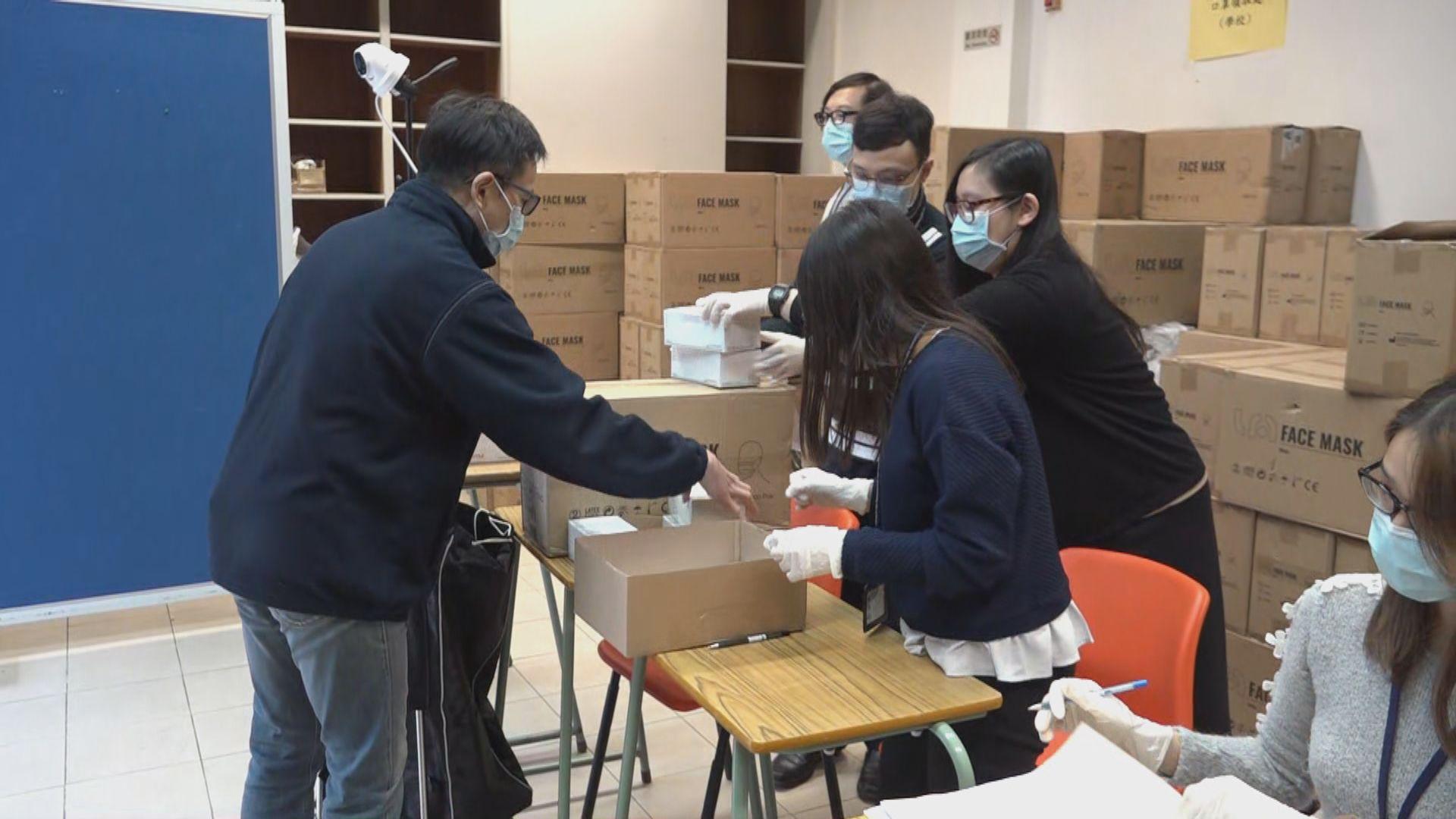 考評局向文憑試考生發放口罩 今日起安排學校職員領取