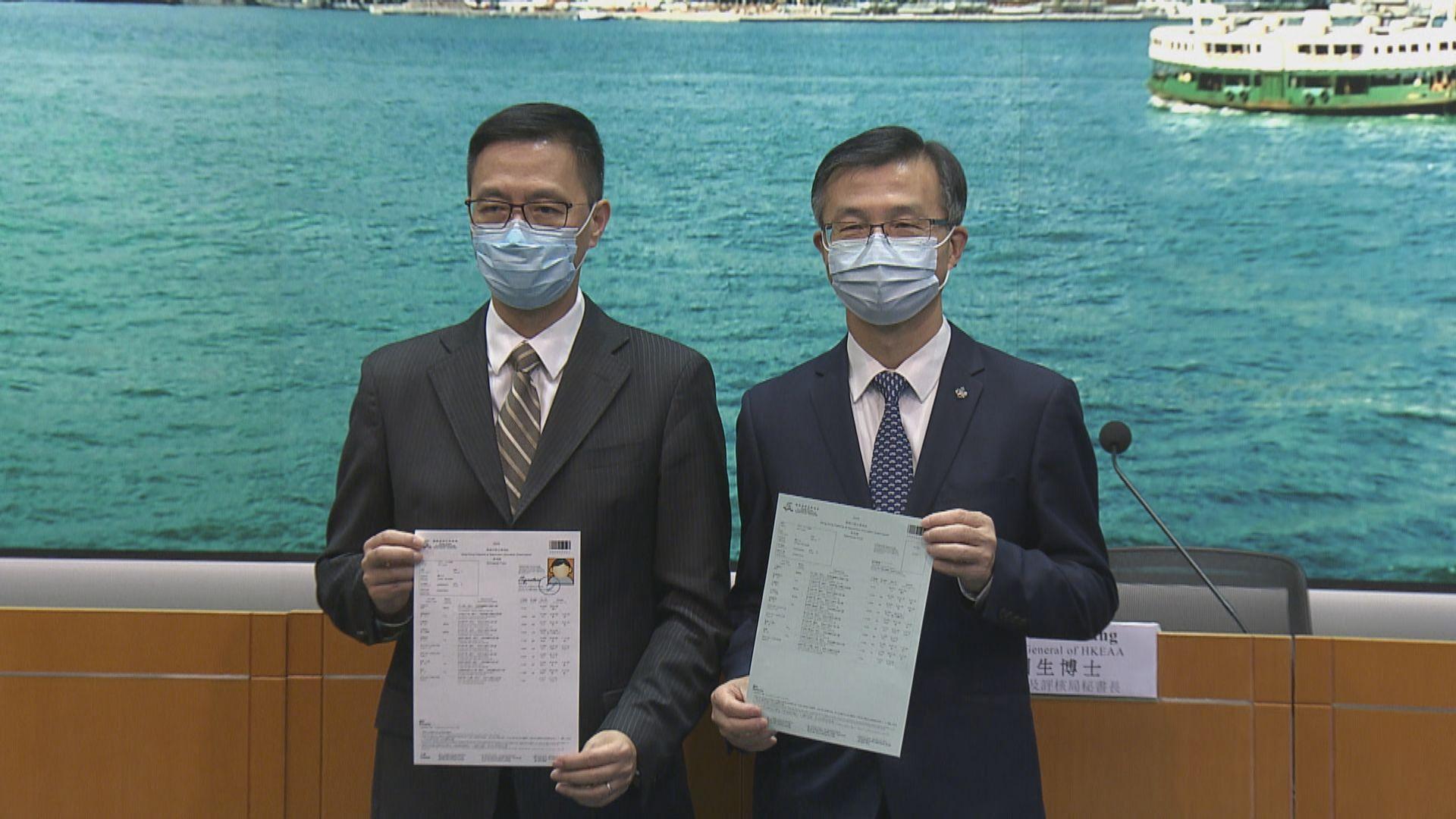 楊潤雄:即使確診數字上升 文憑試亦未必需再延期