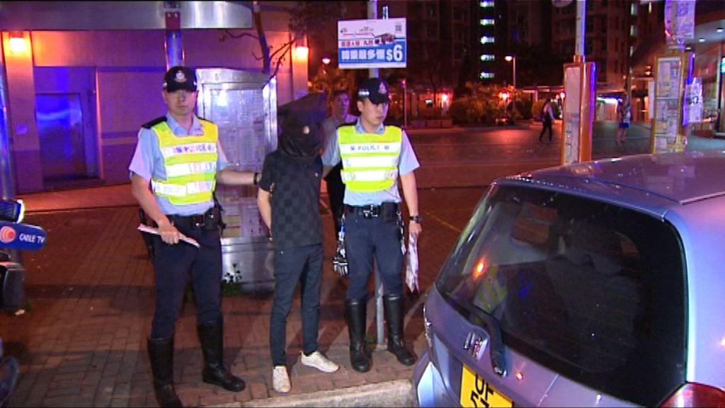 警天水圍截可疑車拘一漢檢毒品