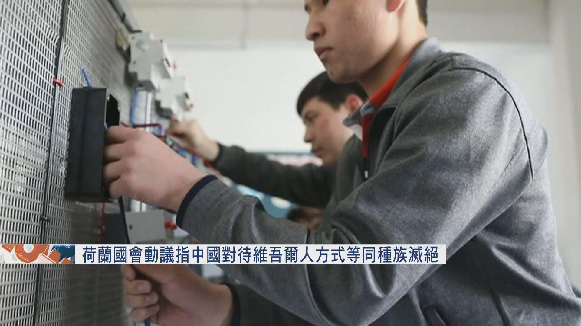 荷蘭國會通過動議指中國對待維吾爾人方式等同種族滅絕 中駐荷使館批蓄意污蔑
