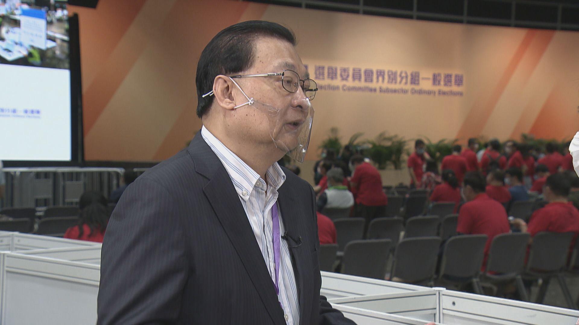 【選委會選舉】譚耀宗估計選委會選舉投票率較低界別或有個別考慮