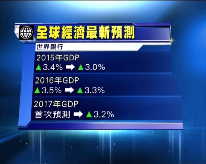 世銀降今明兩年全球經濟增長預測