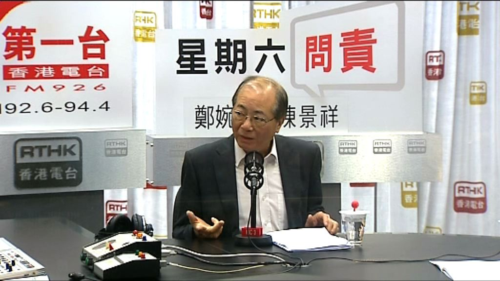 吳克儉尊重港大學生表達意見自由