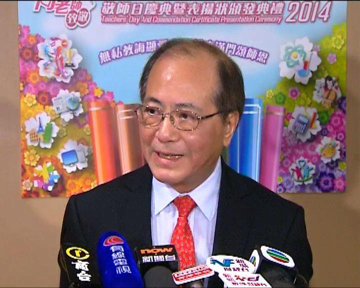 吳克儉:教育局在學校要求下才介入