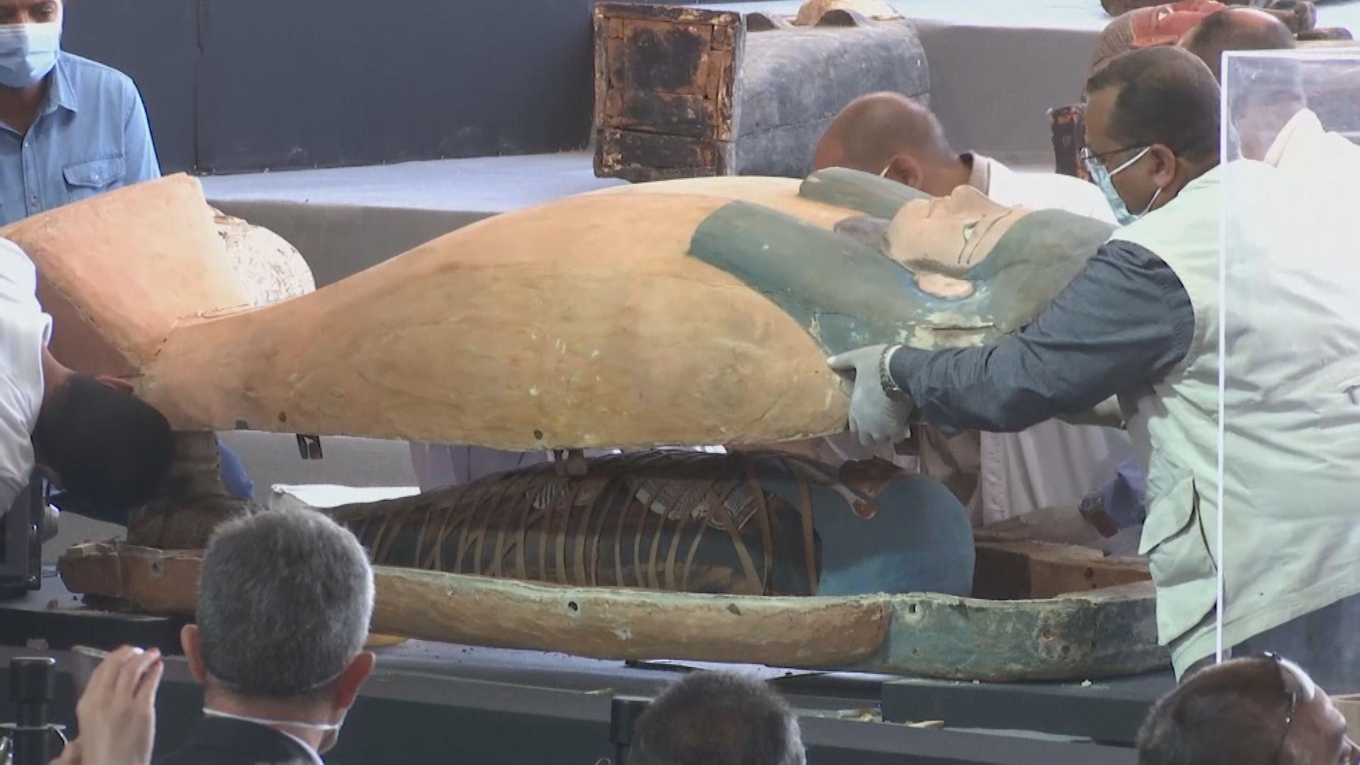 埃及出土逾百具約2500年歷史彩繪木棺