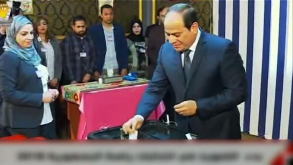 埃及總統投票展開料塞西可連任