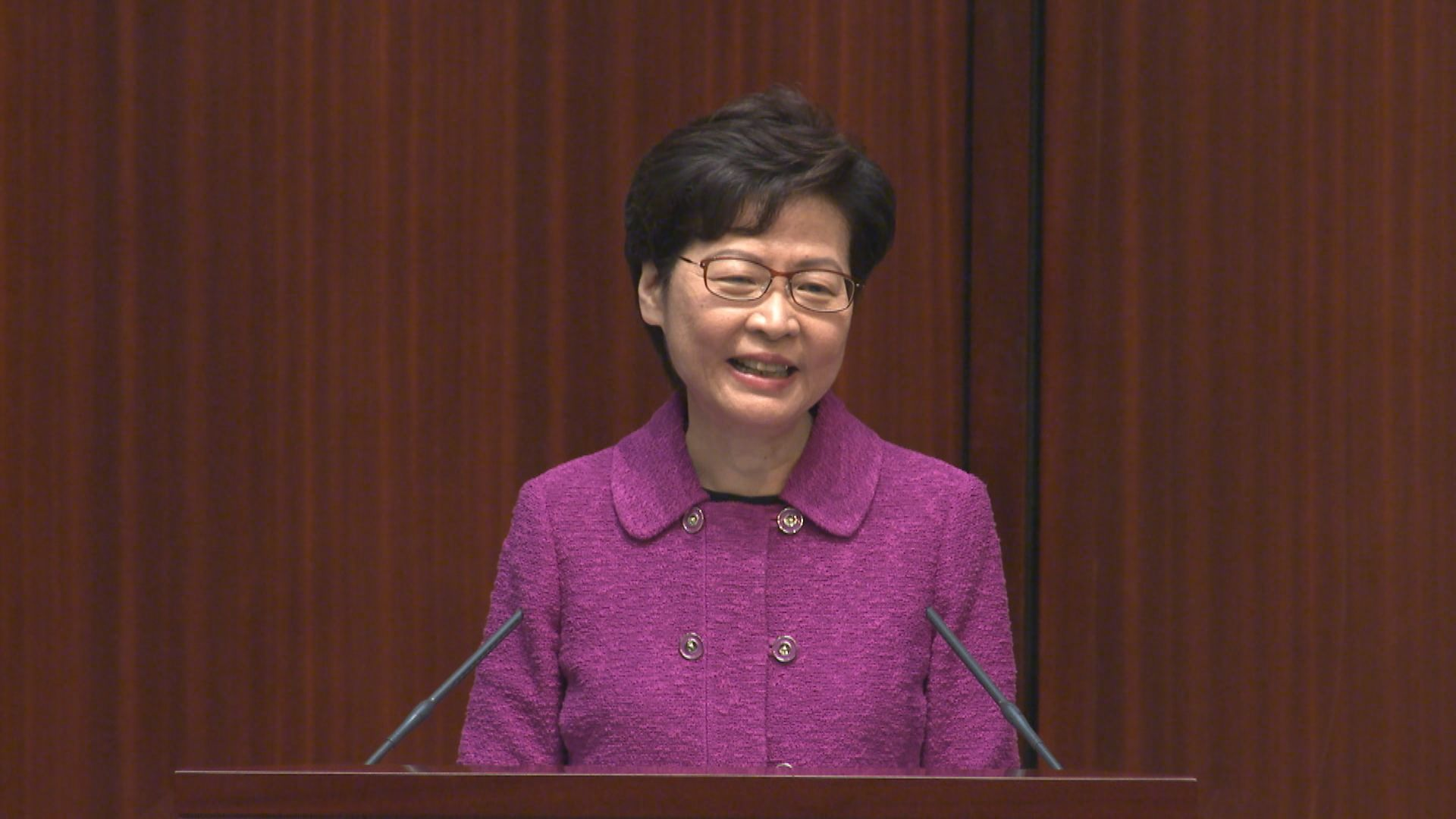 林鄭月娥:選舉修例草案下周三首讀