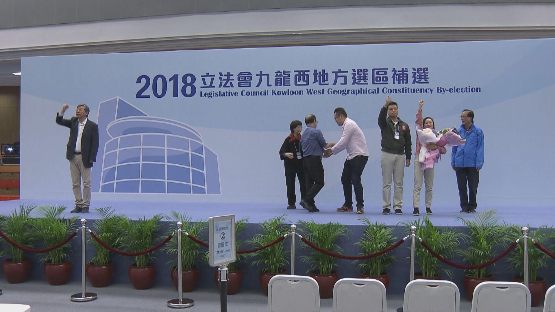 陳凱欣勝出九龍西補選 拋離李卓人過萬票