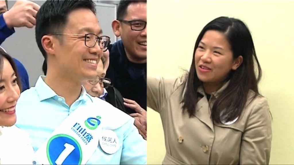 伍凱欣、楊哲安勝出中西區補選