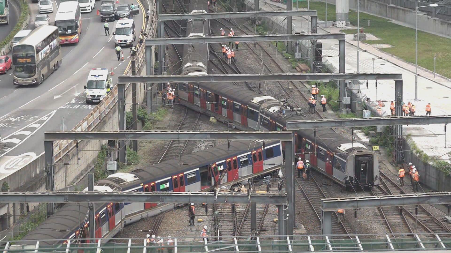 紅磡站出軌事故 港鐵︰調查工作仍在進行