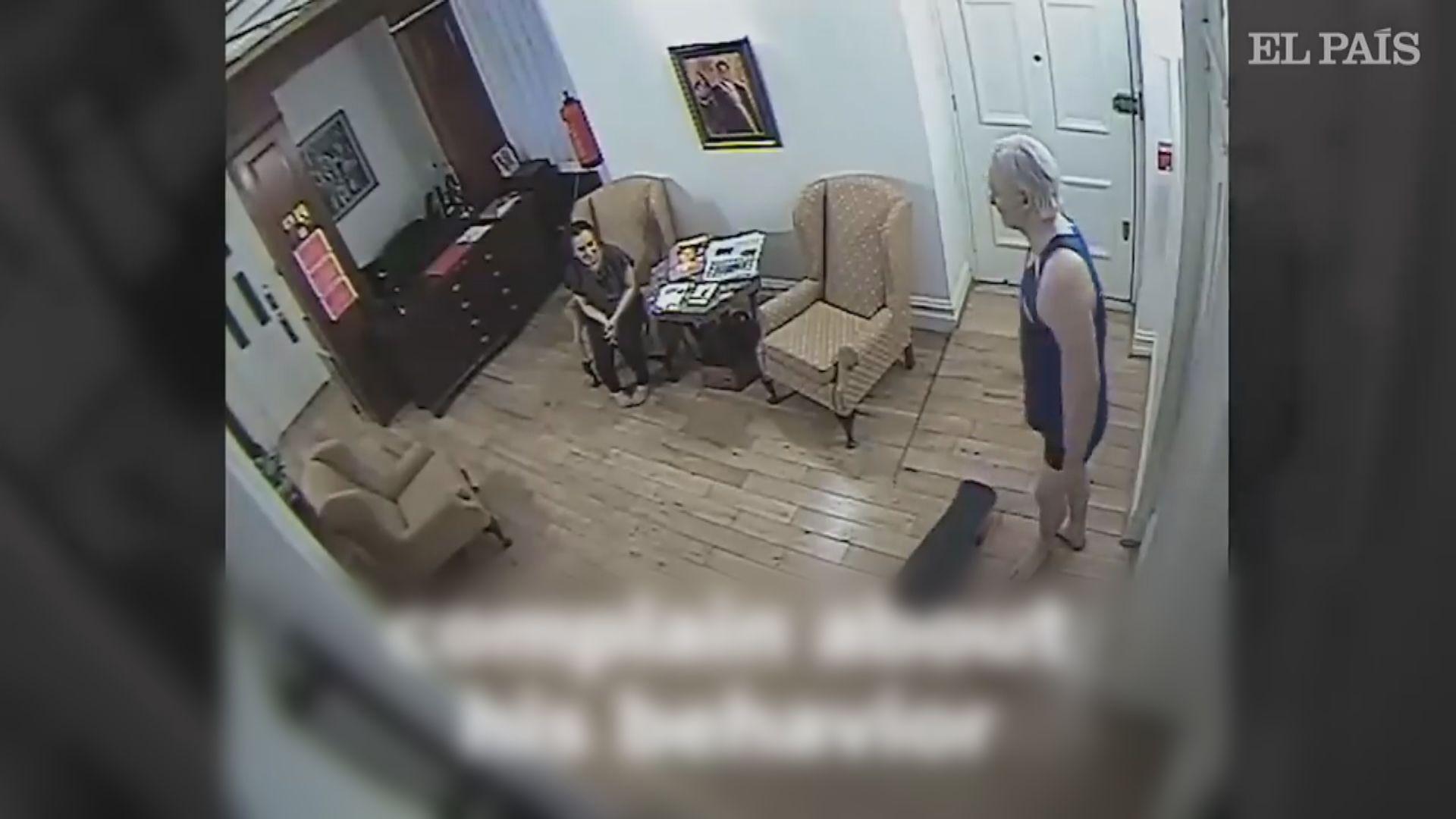 阿桑吉在厄瓜多爾大使館生活片段曝光