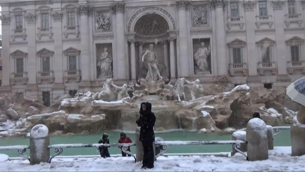 意大利羅馬六年來首次下雪