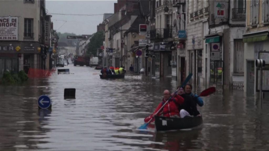 法國北部暴雨成災至少兩死