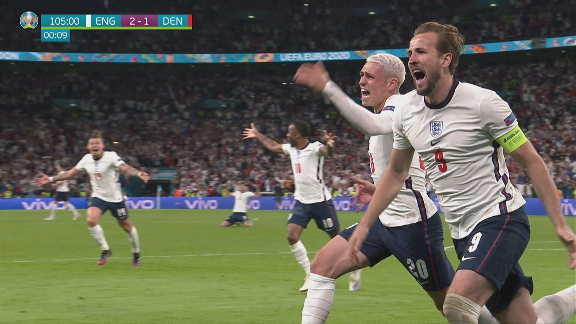 英格蘭2:1丹麥 首次打入歐國盃決賽