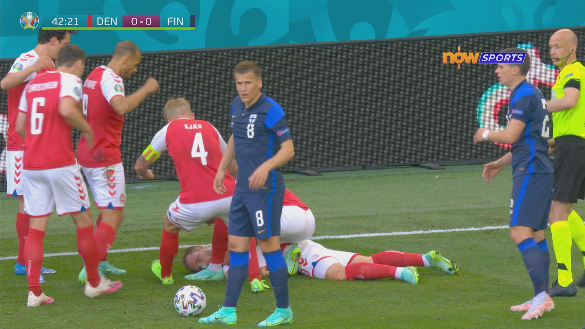 丹麥中場艾歷臣比賽期間暈倒 卡亞關鍵處理救其一命