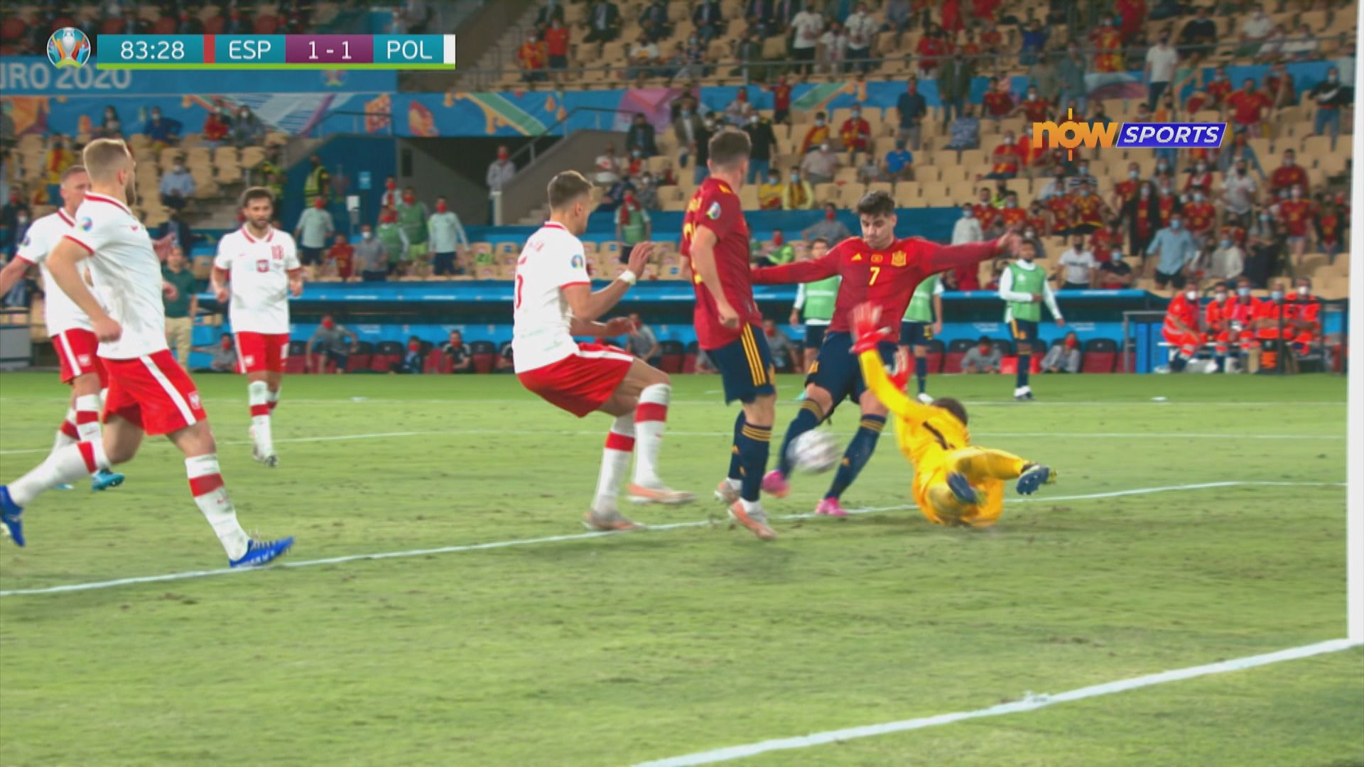 歐國盃 西班牙1:1波蘭