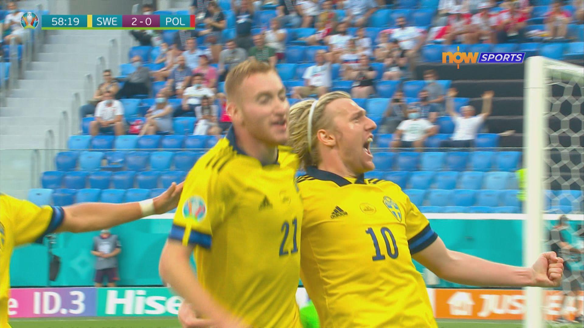 歐國盃 瑞典3:2波蘭