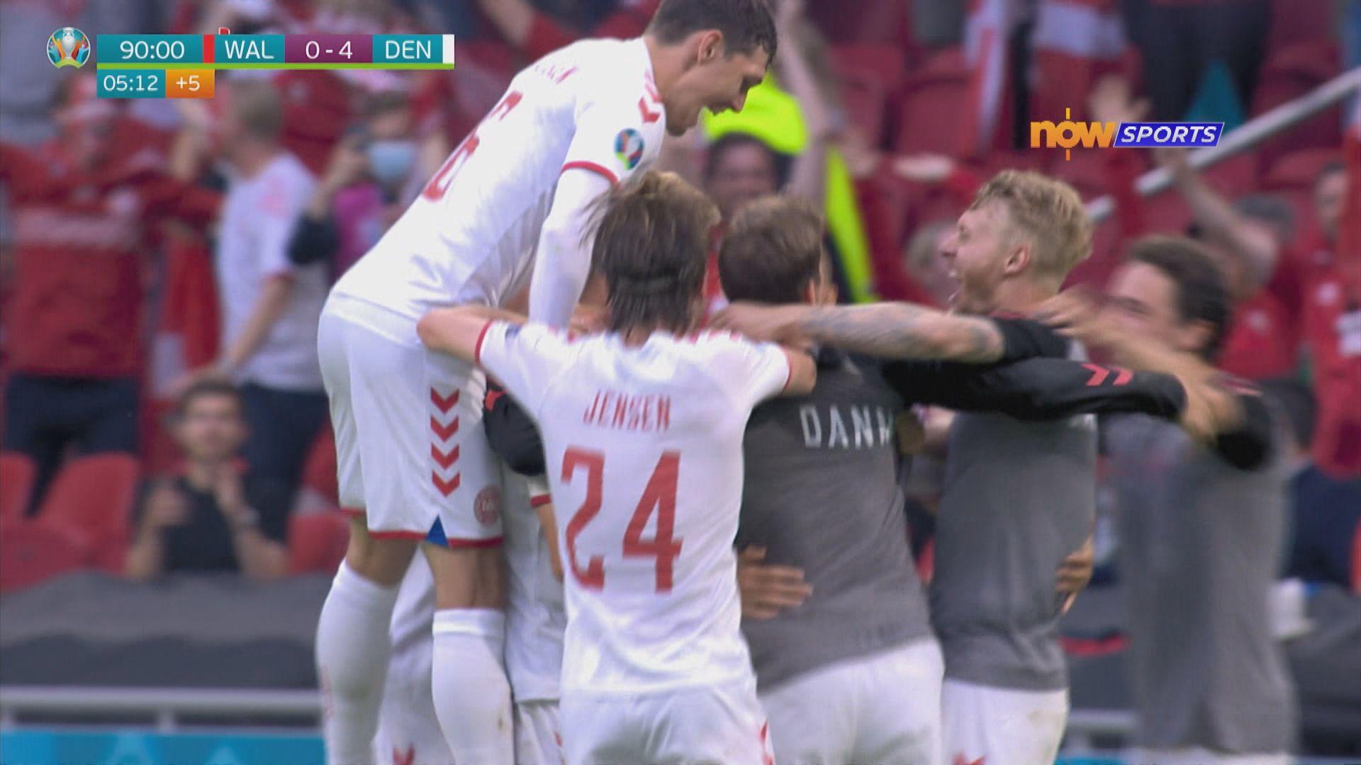 歐國盃16強 威爾士0:4丹麥
