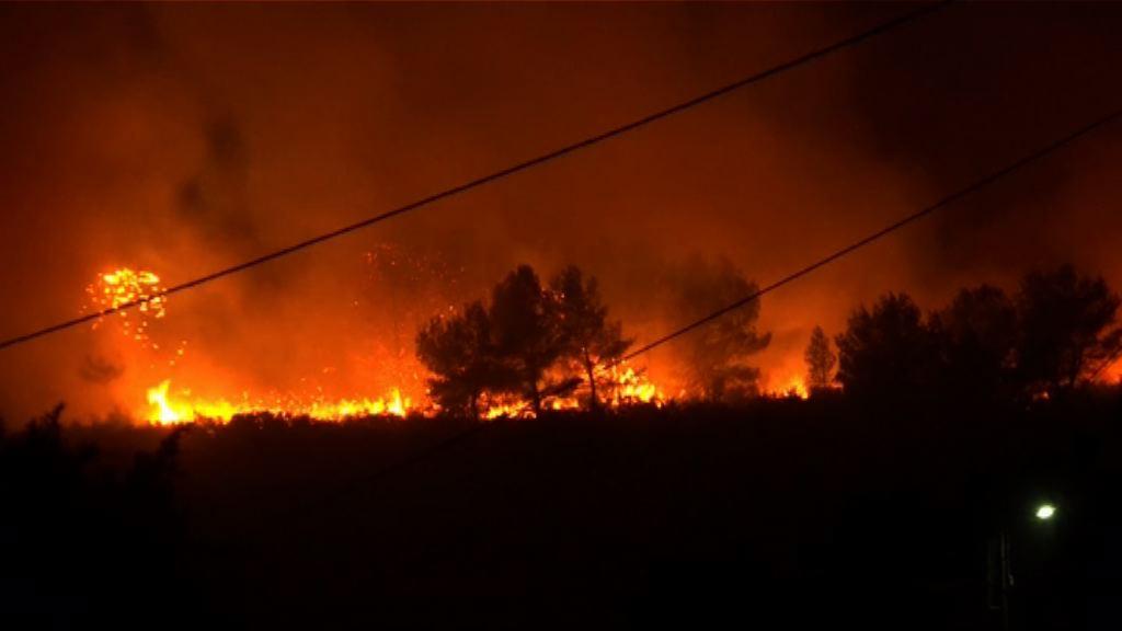 法國南部發生近廿年來最嚴重山火