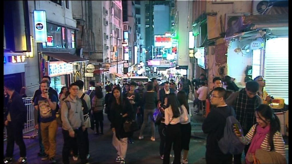 蘭桂坊餐廳料營業額有增長