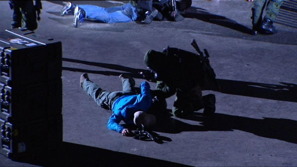 警方紅館進行大型反恐演習