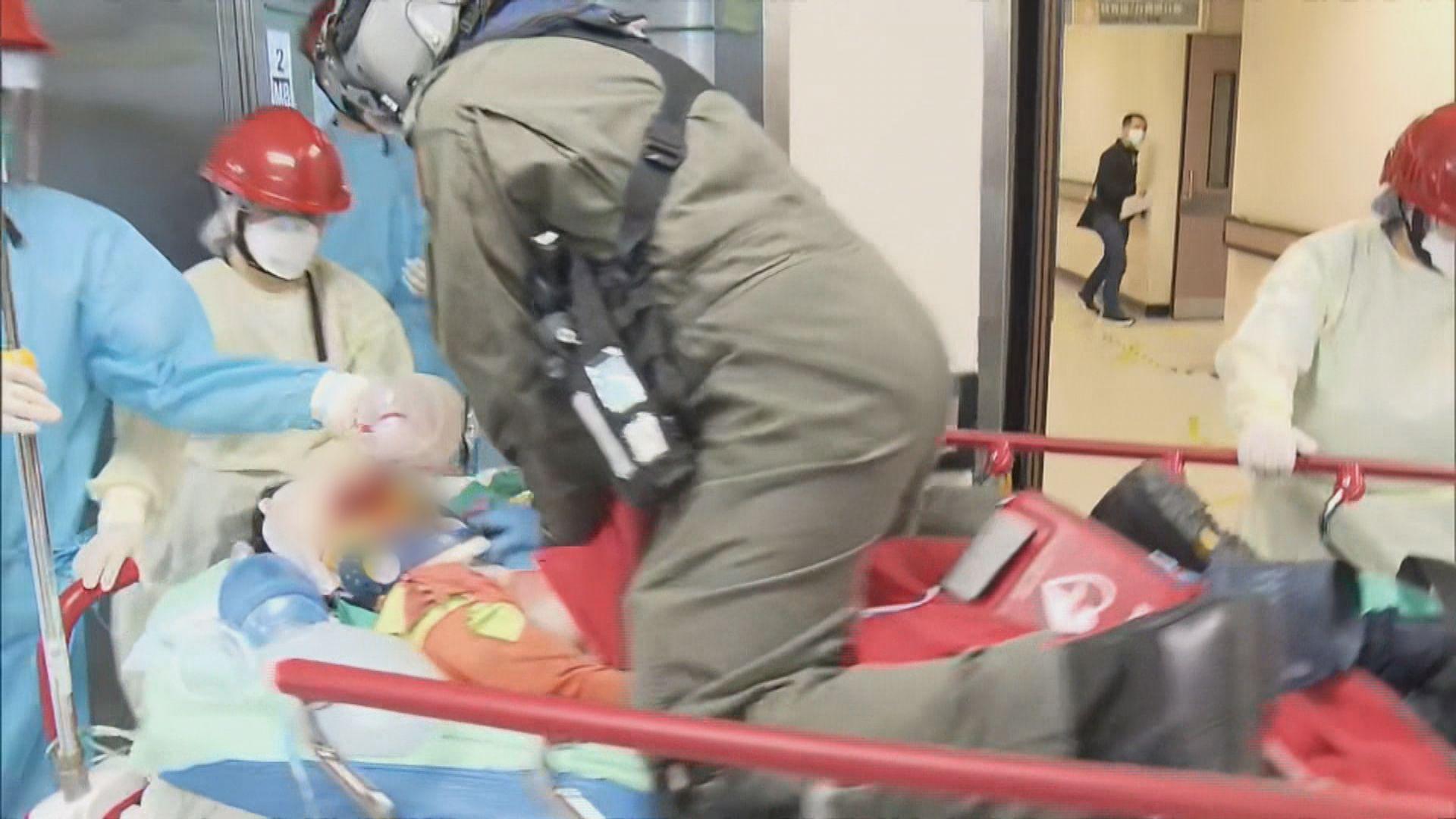 沙頭角女子行石澗滑倒昏迷 直升機送院