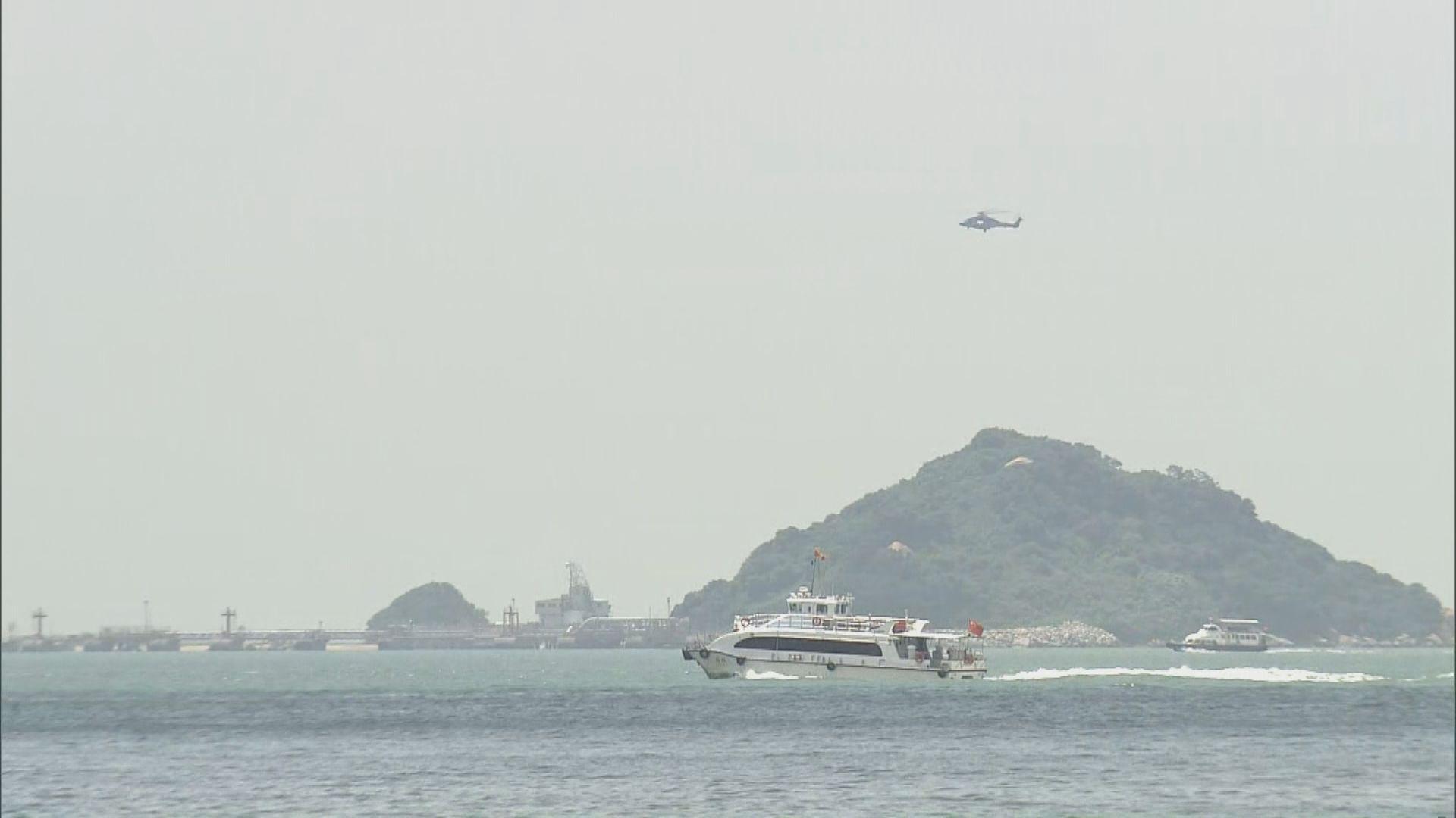 水警快艇沙洲對開追截走私意外翻船 一名女警失蹤