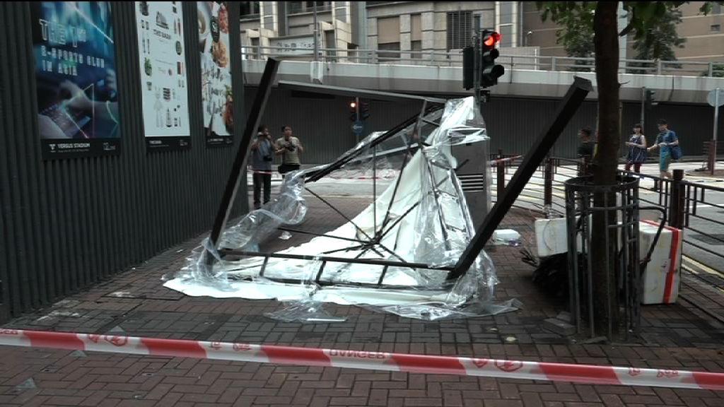 長沙灣有帳篷墮街擊傷女途人