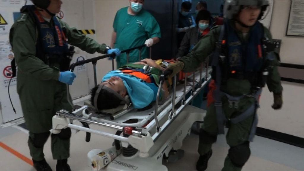 南丫島男子墮山受傷送院