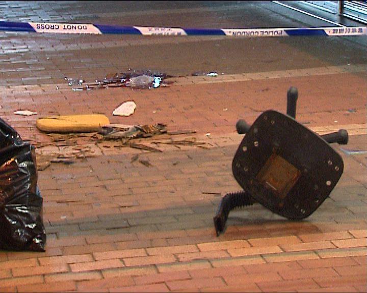旺角有椅子高處墮下擊斃途人一男子被捕