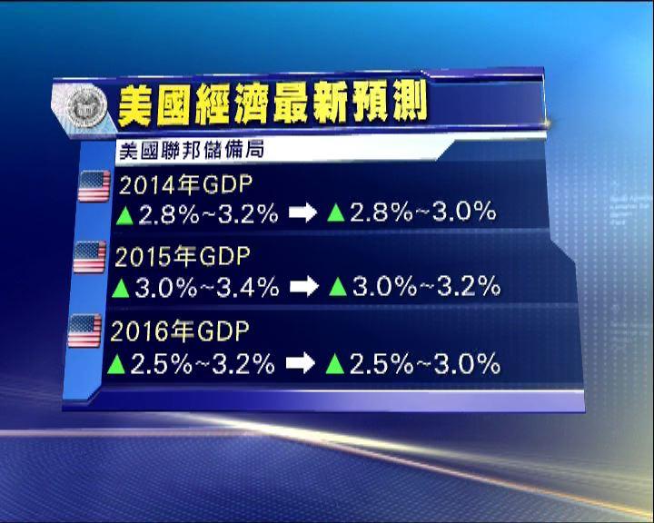 聯儲局將GDP預測上限調低